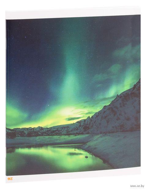 """Тетрадь полуобщая в клетку """"Northern Lights"""" (48 листов) — фото, картинка"""