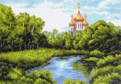 """Канва с нанесенным рисунком """"Тихая заводь"""" (арт. 1354)"""