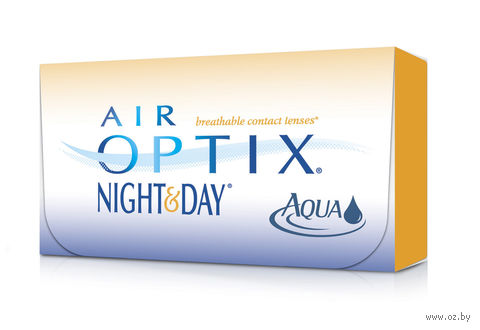 "Контактные линзы ""Air Optix Night and Day Aqua"" (1 линза; -9,0 дптр) — фото, картинка"