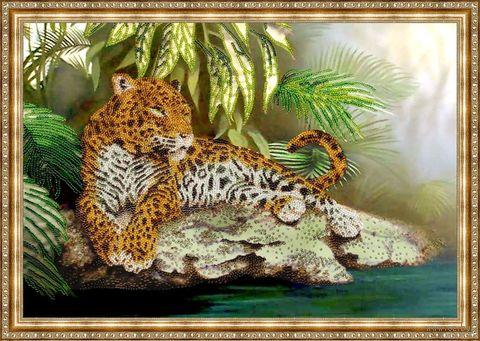 """Вышивка бисером """"Леопард"""""""