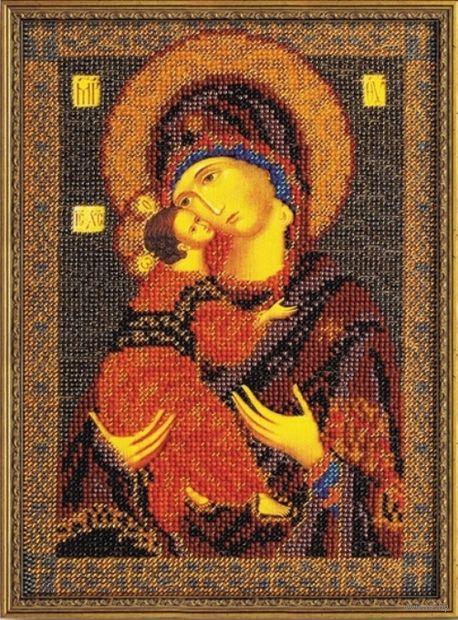 """Вышивка бисером """"Владимирская Богородица"""" (180x250 мм) — фото, картинка"""