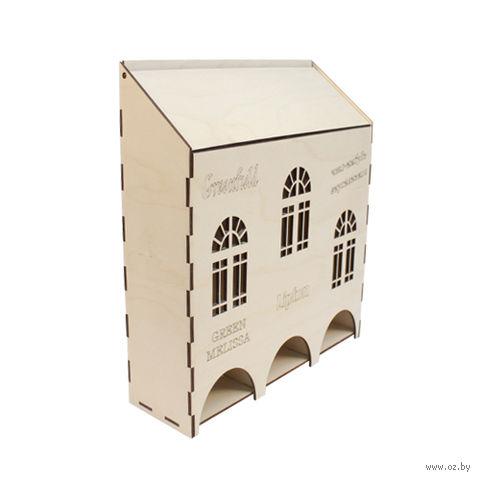 """Заготовка деревянная """"Чайный домик высокий"""" (3 секции; 250х80х290 мм)"""