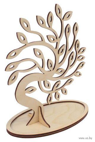 "Заготовка деревянная ""Дерево под бижутерию. Листики"" (210х180 мм)"
