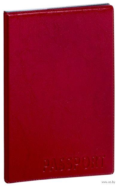 "Обложка на паспорт ""Passport"" (красная) — фото, картинка"
