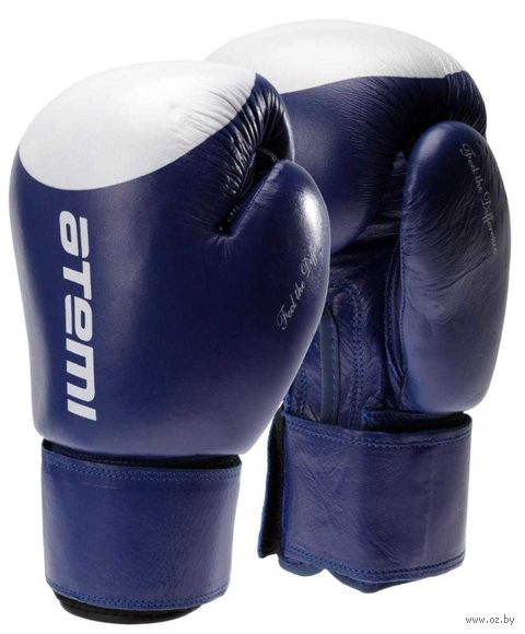 Перчатки боксёрские LTB19009 (10 унций; сине-белые/мишень) — фото, картинка