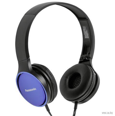 Наушники Panasonic RP-HF300GC-A (черно-синие) — фото, картинка