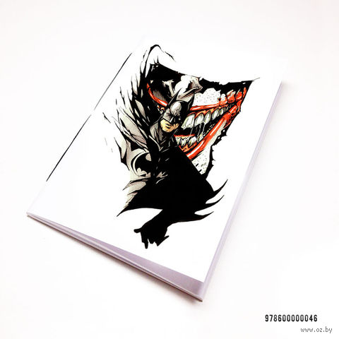 "Блокнот белый ""Бетмен и Джокер"" А7 (046)"