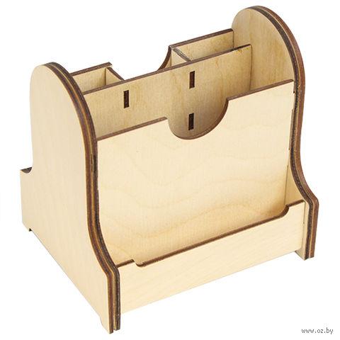 """Заготовка деревянная """"Подставка под ручки"""" (130х100х120 мм) — фото, картинка"""