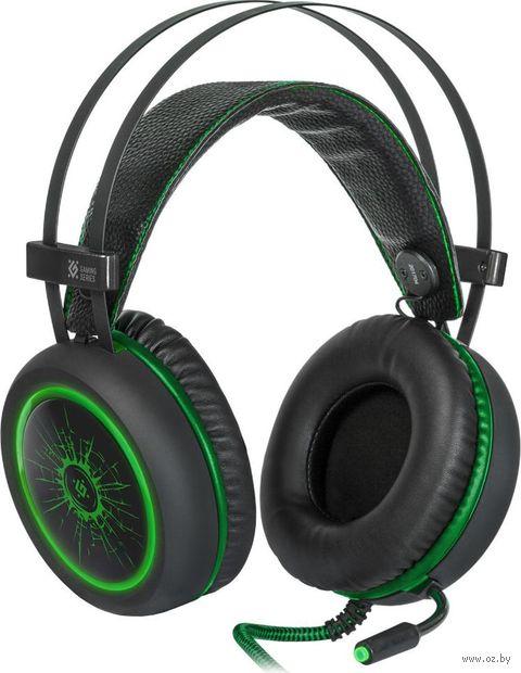 Гарнитура игровая Defender DeadFire G-530D (черно-зеленая) — фото, картинка
