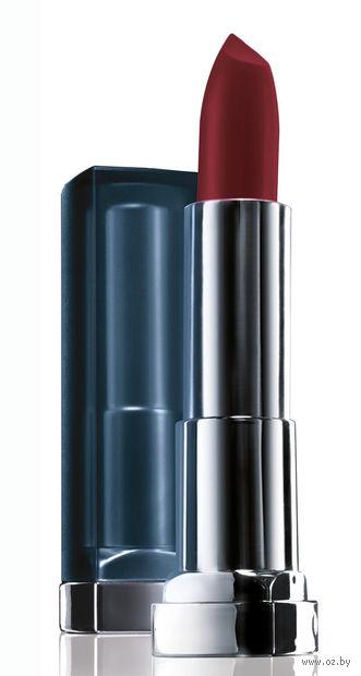 """Помада для губ """"Color Sensational. Матовое искушение"""" (тон: 975, винная ягода) — фото, картинка"""