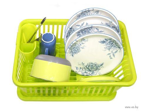 Сушилка для посуды пластмассовая (салатовая) — фото, картинка