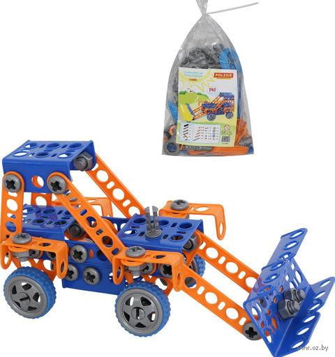 """Конструктор """"Изобретатель. Трактор-погрузчик №1"""" (141 деталь) — фото, картинка"""
