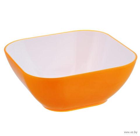 Миска пластмассовая (3,9 л; оранжевая) — фото, картинка