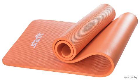 Коврик для йоги FM-301 (183x58x1,5 см; оранжевый) — фото, картинка