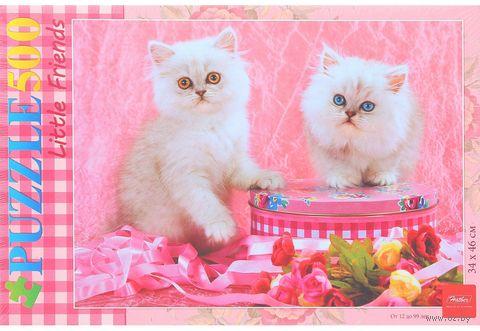 """Пазл """"Белые котята"""" (500 элементов) — фото, картинка"""