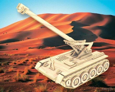 """Сборная деревянная модель """"Самоходная пушка"""" — фото, картинка"""