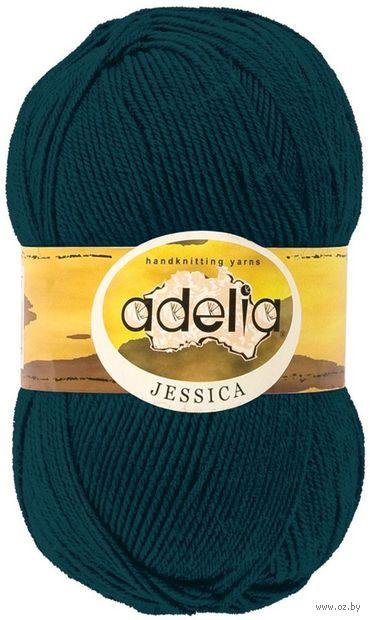 "Пряжа ""Adelia. Jessica №16"" (100 г; 260 м; тёмно-зелёный) — фото, картинка"