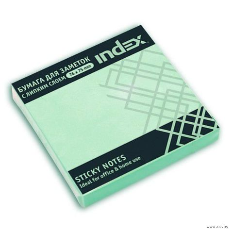 Стикеры (76х75 мм; 100 листов; зеленые) — фото, картинка