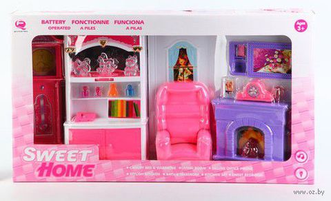 """Набор мебели для кукол """"Гостиная с камином"""""""