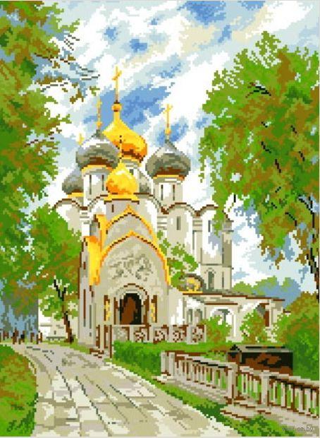 """Алмазная вышивка-мозаика """"Новодевичий монастырь"""""""
