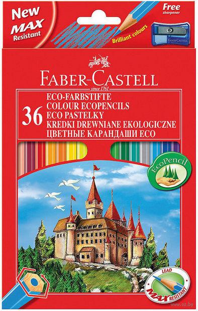 """Набор карандашей цветных """"Faber-Castell ECO. Замок"""" (36 цветов; с точилкой)"""
