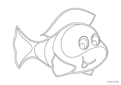 """Трафарет для рисования песком """"Рыбка"""" (А5)"""