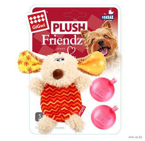 """Игрушка для собак """"Собачка"""" с двумя сменными пищалками (13 см)"""