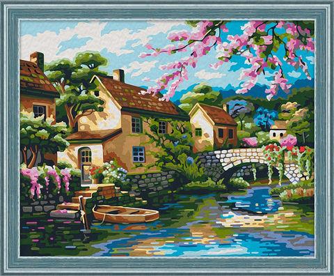 """Картина по номерам """"Мостик над каналом"""" (400х500 мм) — фото, картинка"""