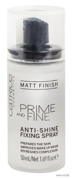 "Спрей для фиксации макияжа ""Prime and Fine Anti-Shine Fixing Spray"" (50 мл) — фото, картинка"
