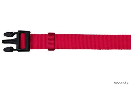 """Ошейник нейлоновый для собак """"Classic"""" (размер L-XL; 40-65 см; красный)"""