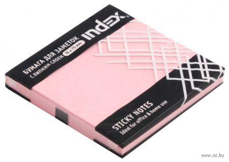 Стикеры (76х75 мм; 100 листов; розовые) — фото, картинка