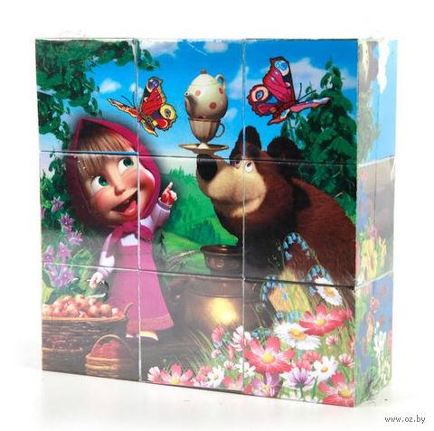 """Кубики """"Маша и Медведь"""" (9 шт) — фото, картинка"""