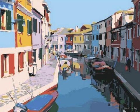 "Картина по номерам ""Красочные дома. Венеция"" (400x500 мм) — фото, картинка"