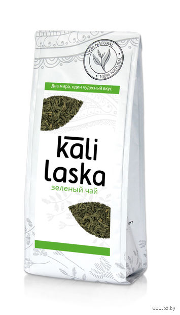 """Чай зеленый листовой """"Kali Laska"""" (100 г) — фото, картинка"""