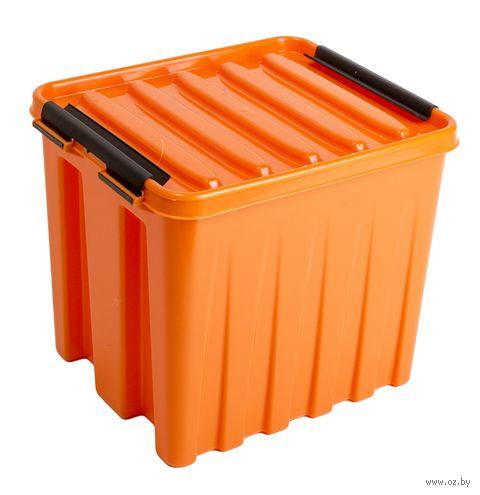 Ящик для хранения с крышкой (4,5 л; оранжевый) — фото, картинка