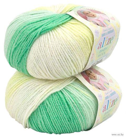 """Пряжа """"ALIZE. Baby Wool Batik Design №2131"""" (50 г; 175 м; секционный) — фото, картинка"""