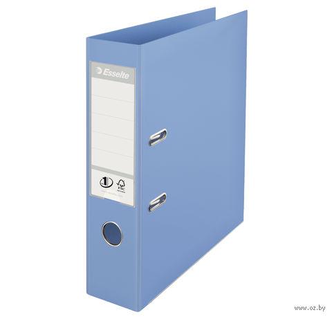 Папка-регистратор А4 с арочным механизмом, 75 мм (ПВХ, голубая)