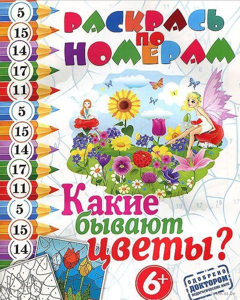 Раскрась по номерам. Какие бывают цветы?