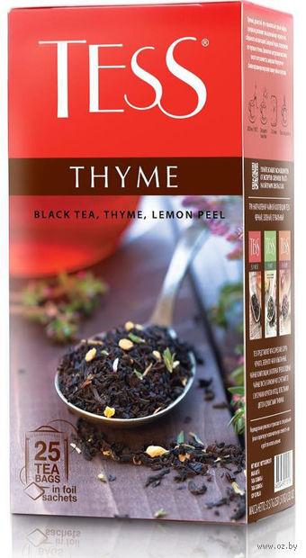 """Чай черный """"Tess. Thyme"""" (25 пакетиков) — фото, картинка"""
