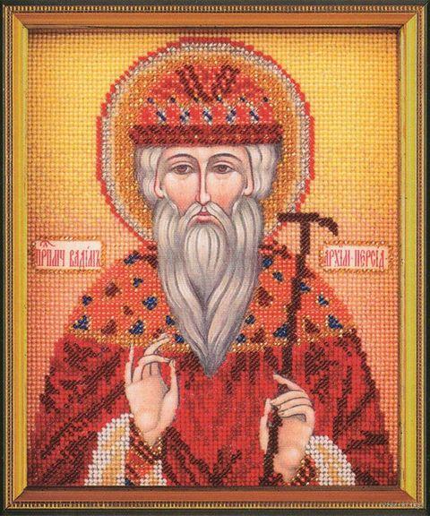 """Вышивка бисером """"Св. Вадим"""" (120х145 мм) — фото, картинка"""