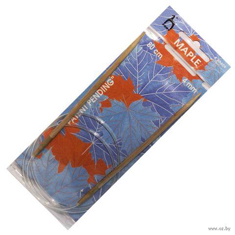 Спицы круговые для вязания (дерево; 4 мм; 80 см) — фото, картинка