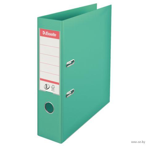 Папка-регистратор А4 с арочным механизмом, 75 мм (ПВХ, светло-зеленая)