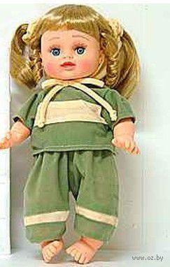 Кукла в зеленом костюмчике (в сумке)