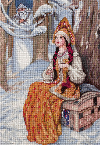 """Вышивка крестом """"Морозко"""" (240х340 мм) — фото, картинка"""