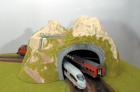 """Игровой набор """"Туннель угловой двухпутный"""" — фото, картинка"""