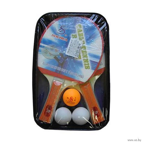 Набор для настольного тенниса (2 ракетки+3 мяча; арт. 608) — фото, картинка
