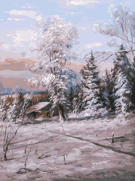 """Картина по номерам """"Зимний день"""" (300х400 мм) — фото, картинка"""