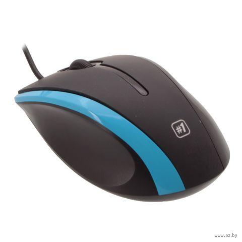 Проводная оптическая мышь Defender #1 MM-340 (черно-синяя) — фото, картинка