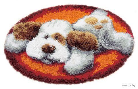 """Вышивка в ковровой технике """"Коврик. Собака"""" (700х500 мм) — фото, картинка"""