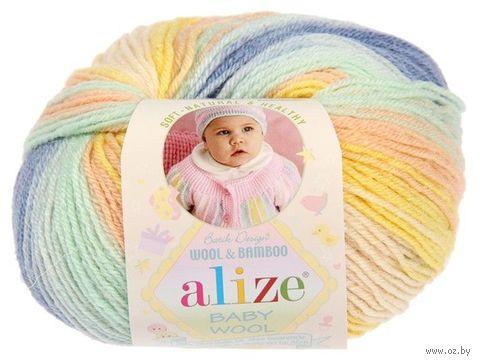 """Пряжа """"ALIZE. Baby Wool Batik Design №6539"""" (50 г; 175 м; секционный) — фото, картинка"""